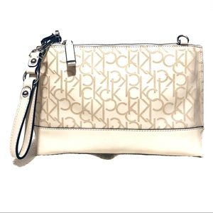 Calvin Klein Cream Logo Convertible Crossbody